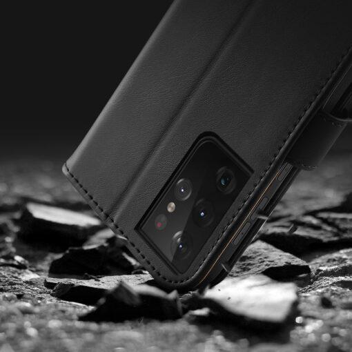 Samsung S21 Ultra nahast raamatkaaned Dux Ducis Hivo punane 15