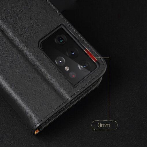 Samsung S21 Ultra nahast raamatkaaned Dux Ducis Hivo punane 17