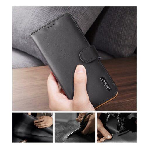 Samsung S21 Ultra nahast raamatkaaned Dux Ducis Hivo punane 9