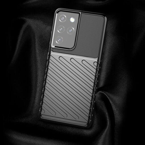 Samsung S21 Ultra tugev umbris Thunder silikoonist must 2
