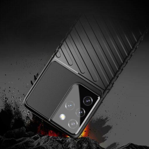 Samsung S21 Ultra tugev umbris Thunder silikoonist must 3
