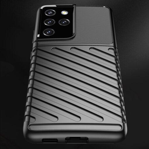 Samsung S21 Ultra tugev umbris Thunder silikoonist must 5