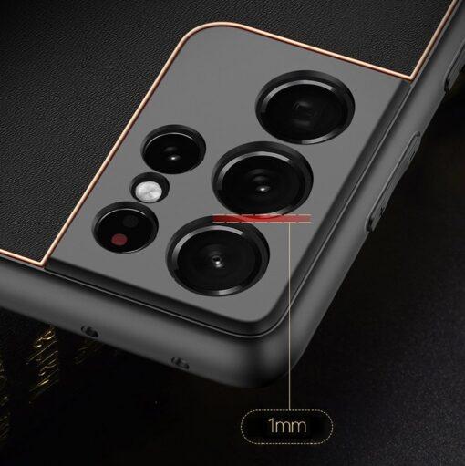 Samsung S21 Ultra umbris Dux Ducis Yolo elegant kunstnahast ja silikoonist servadega must 13