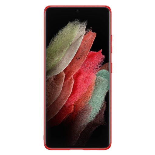 Samsung S21 Ultra umbris Dux Ducis Yolo elegant kunstnahast ja silikoonist servadega punane 2