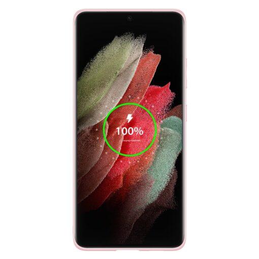 Samsung S21 Ultra umbris Dux Ducis Yolo elegant kunstnahast ja silikoonist servadega roosa 2