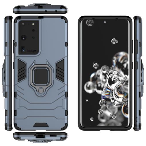 Samsung S21 Ultra umbris Ring Armor sinine 5