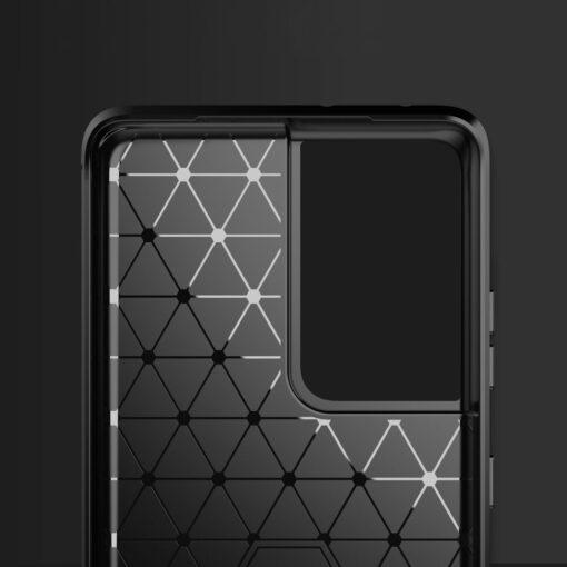 Samsung S21 Ultra umbris silikoonist Carbon must 1