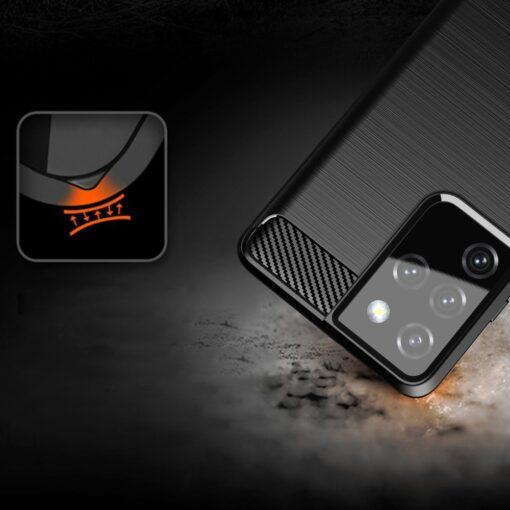 Samsung S21 Ultra umbris silikoonist Carbon must 5