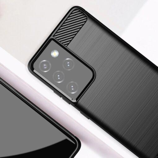 Samsung S21 Ultra umbris silikoonist Carbon must 6