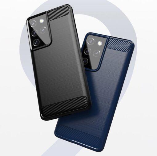 Samsung S21 Ultra umbris silikoonist Carbon must 7
