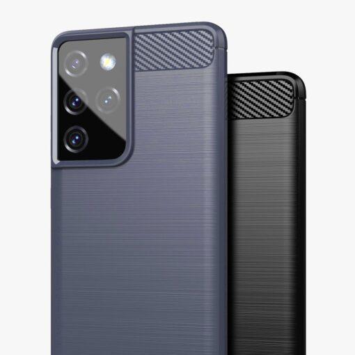 Samsung S21 Ultra umbris silikoonist Carbon must 8