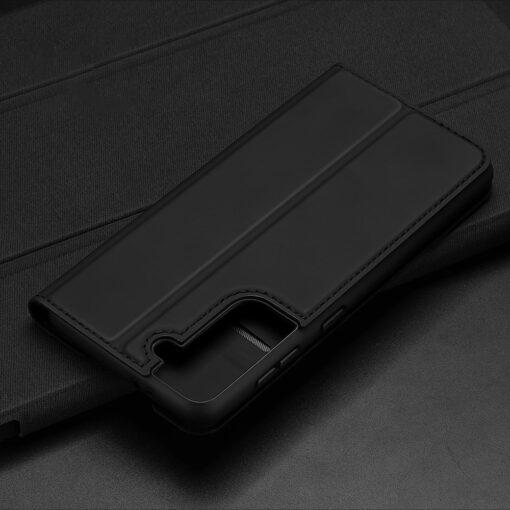 Samsung S21 kunstnahast kaaned DUX DUCIS Skin Pro Bookcase must 12