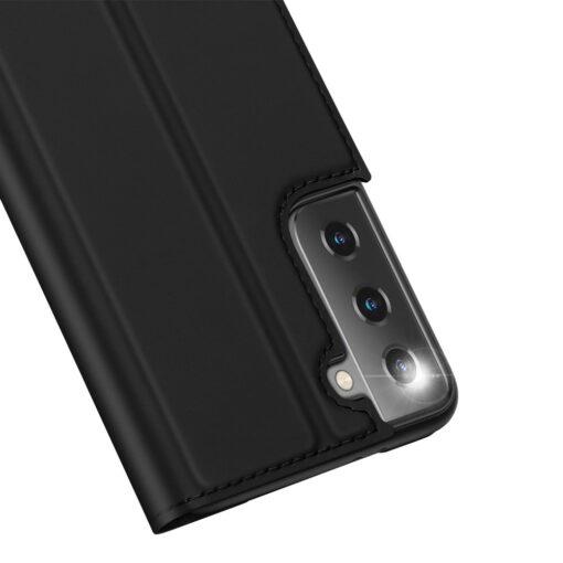 Samsung S21 kunstnahast kaaned DUX DUCIS Skin Pro Bookcase must 7