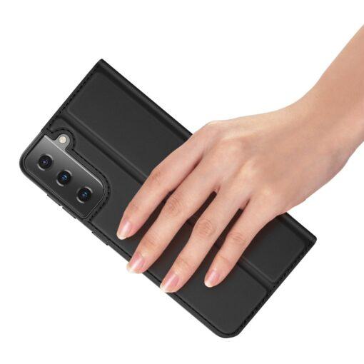 Samsung S21 kunstnahast kaaned DUX DUCIS Skin Pro Bookcase must 8