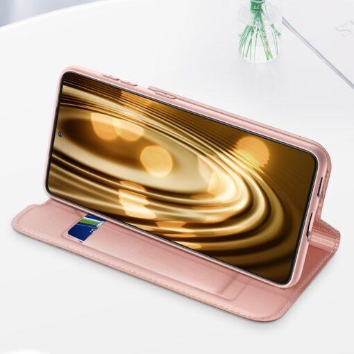 Samsung S21 kunstnahast kaaned DUX DUCIS Skin Pro Bookcase roosa 10