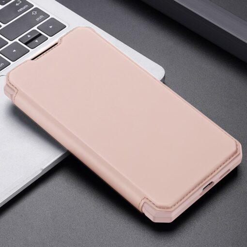 Samsung S21 kunstnahast kaaned kaarditaskuga DUX DUCIS Skin Pro roosa 12