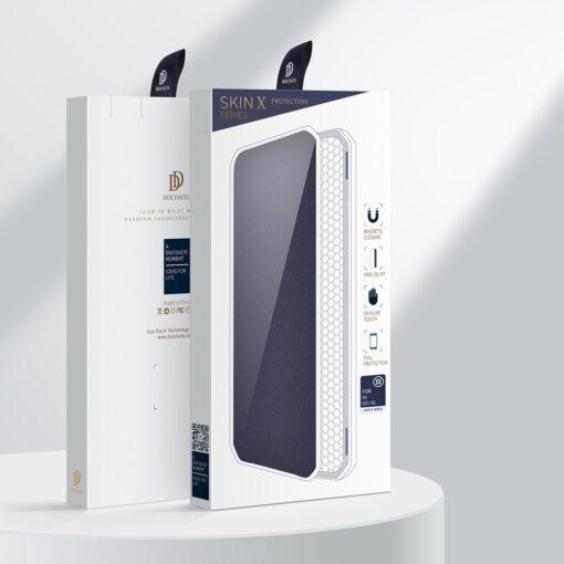Samsung S21 kunstnahast kaaned kaarditaskuga DUX DUCIS Skin Pro sinine 4