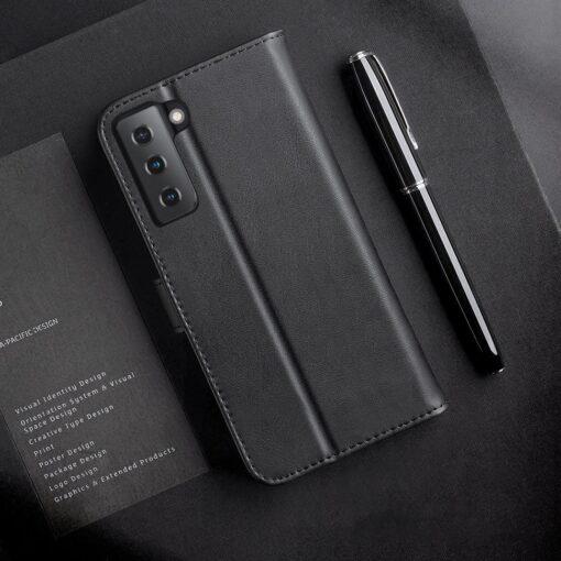 Samsung S21 nahast raamatkaaned Dux Ducis Hivo must 11