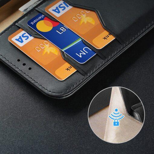 Samsung S21 nahast raamatkaaned Dux Ducis Hivo must 14