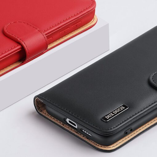 Samsung S21 nahast raamatkaaned Dux Ducis Hivo must 15