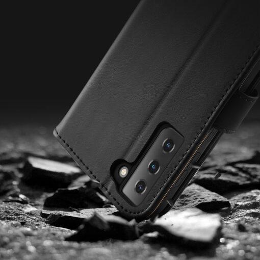 Samsung S21 nahast raamatkaaned Dux Ducis Hivo must 16