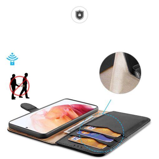 Samsung S21 nahast raamatkaaned Dux Ducis Hivo must 2