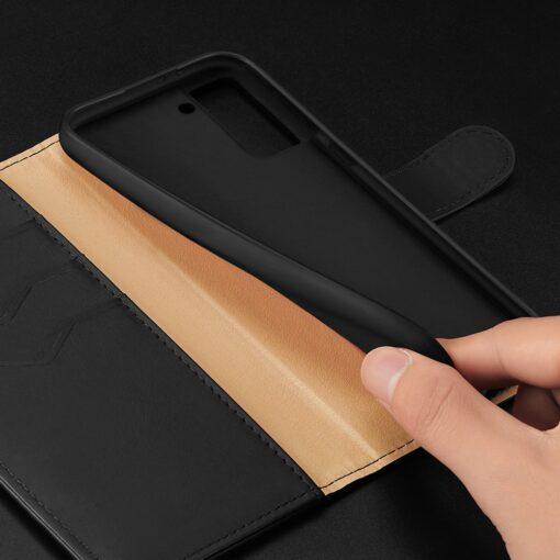 Samsung S21 nahast raamatkaaned Dux Ducis Hivo must 22