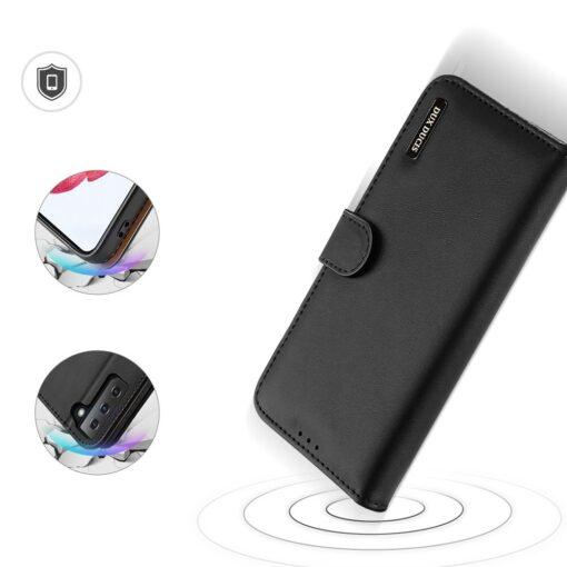 Samsung S21 nahast raamatkaaned Dux Ducis Hivo must 3