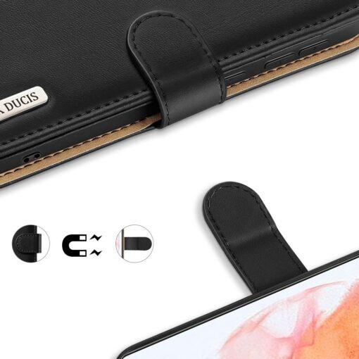 Samsung S21 nahast raamatkaaned Dux Ducis Hivo must 5