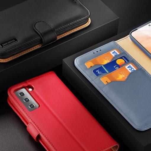Samsung S21 nahast raamatkaaned Dux Ducis Hivo must 8
