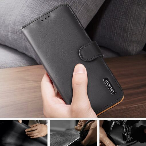 Samsung S21 nahast raamatkaaned Dux Ducis Hivo must 9