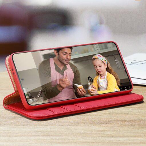 Samsung S21 nahast raamatkaaned Dux Ducis Hivo punane 10