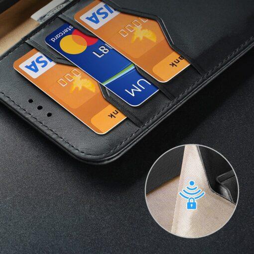 Samsung S21 nahast raamatkaaned Dux Ducis Hivo punane 15