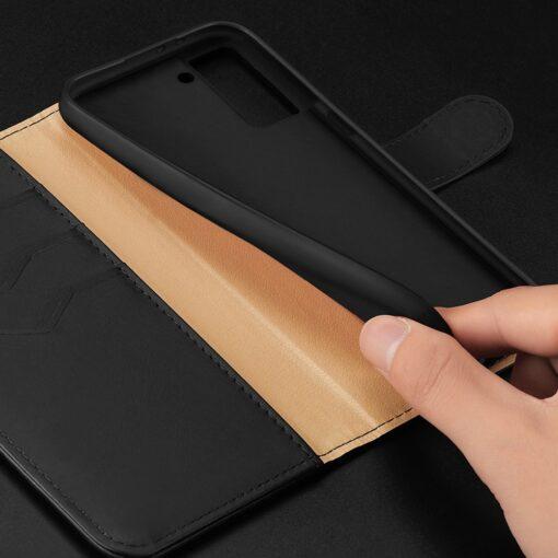 Samsung S21 nahast raamatkaaned Dux Ducis Hivo punane 18