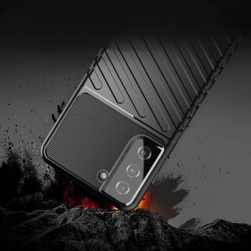 Samsung S21 tugev umbris Thunder silikoonist must 3