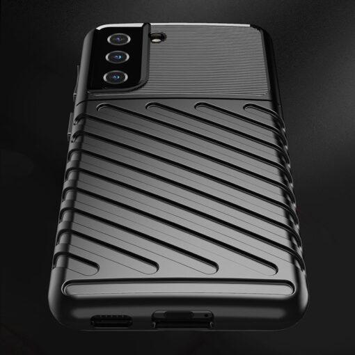 Samsung S21 tugev umbris Thunder silikoonist must 4