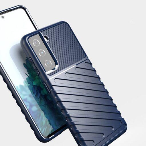Samsung S21 tugev umbris Thunder silikoonist must 5