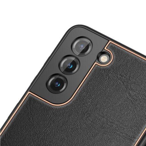 Samsung S21 umbris Dux Ducis Yolo elegant kunstnahast ja silikoonist servadega must 5