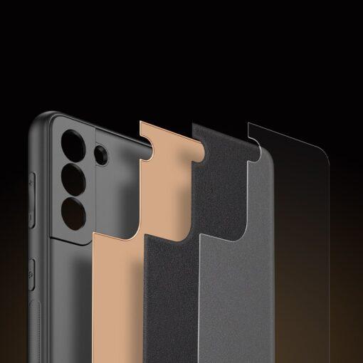 Samsung S21 umbris Dux Ducis Yolo elegant kunstnahast ja silikoonist servadega must 9