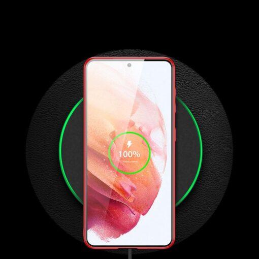 Samsung S21 umbris Dux Ducis Yolo elegant kunstnahast ja silikoonist servadega punane 10
