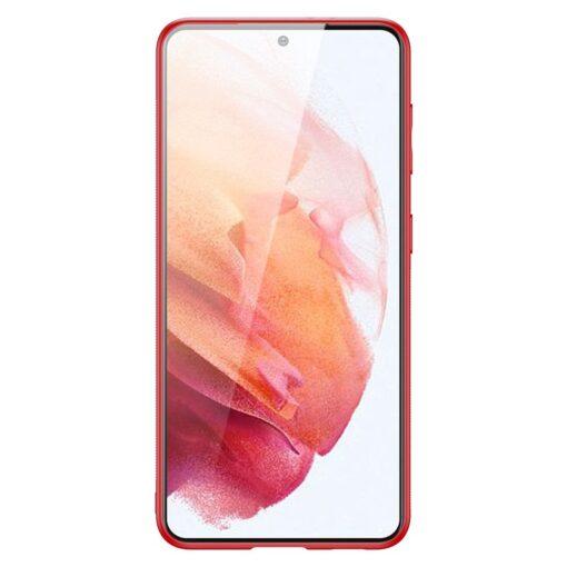 Samsung S21 umbris Dux Ducis Yolo elegant kunstnahast ja silikoonist servadega punane 2