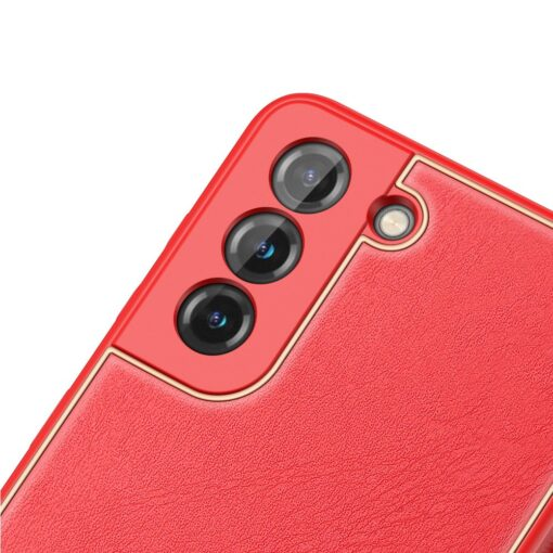 Samsung S21 umbris Dux Ducis Yolo elegant kunstnahast ja silikoonist servadega punane 4