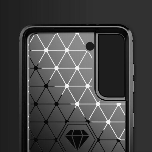 Samsung S21 umbris silikoonist Carbon must 1