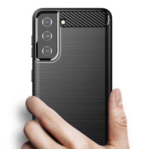Samsung S21 umbris silikoonist Carbon must 2