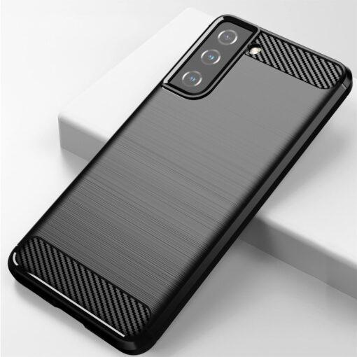 Samsung S21 umbris silikoonist Carbon must 3