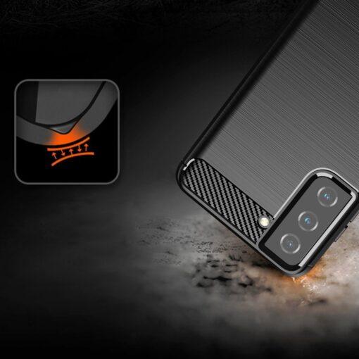 Samsung S21 umbris silikoonist Carbon must 4