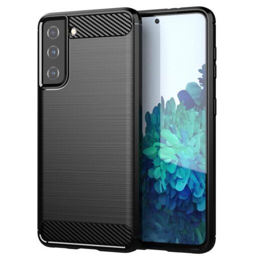 Samsung S21 umbris silikoonist Carbon must