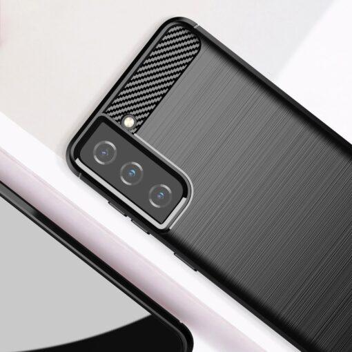 Samsung S21 umbris silikoonist Carbon must 6