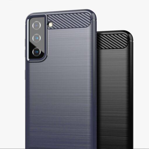 Samsung S21 umbris silikoonist Carbon must 7