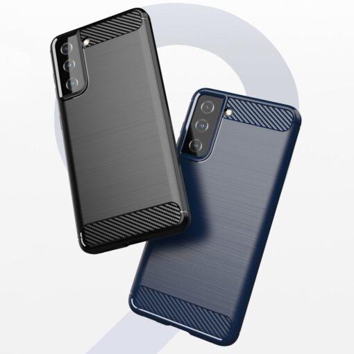 Samsung S21 umbris silikoonist Carbon must 8